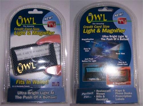 オウル ライト付カード型拡大鏡 2枚セット