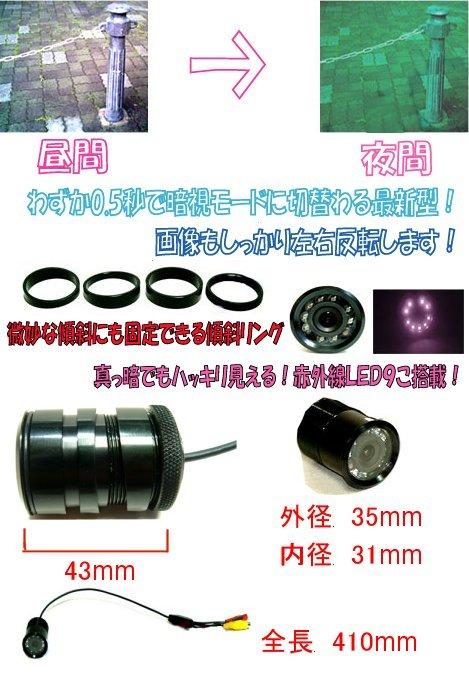 バックカメラ商品説明